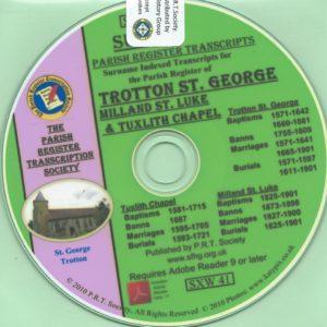 Trotton, Sussex, [with Milland & Tuxlith Chapels]  Parish Records 1571 – 1901 [CD]