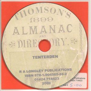 Tenterden 1899 Local Directories CD