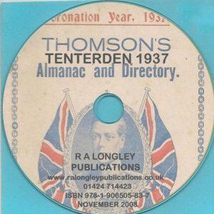 Tenterden 1937 Local Directories CD