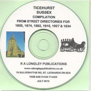 Ticehurst, Sussex Compilation CD 1855 – 1934