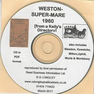 Weston-Super-Mare 1960 Local Directory [Kelly's] CD