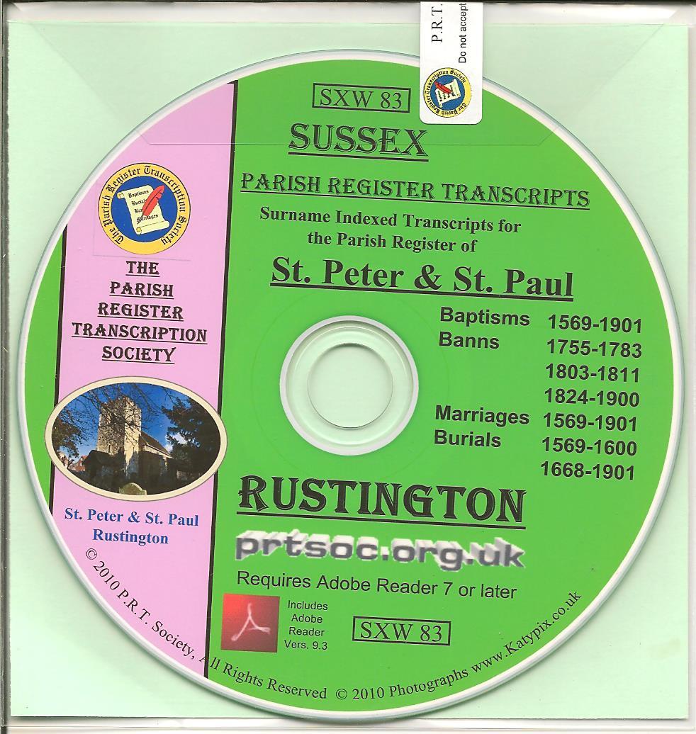 Rustington, Sussex, Parish Records 1569
