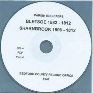Bletsoe [1582-1812] & Sharnbrook [1596-1812] Parish Records[CD]