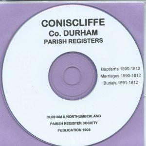 Coniscliffe, Co. Durham Parish Records 1590 – 1812 [CD]
