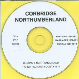 Corbridge, Northumberland, Parish Records 1654 – 1812 [CD]
