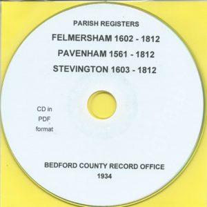 Felmersham, Pavenham & Stevington, Bedfordshire, Parish Records[CD]