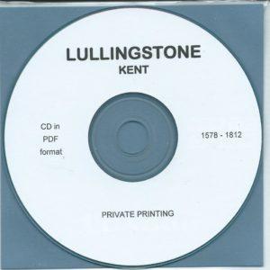 Lullingstone, Kent Parish Records 1578 – 1812 [CD]