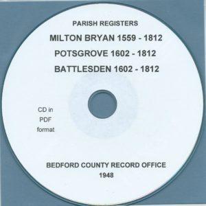 Milton Bryan, Potsgrove and Battlesden, Bedfordshire, Parish Records[CD]