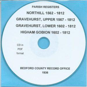 Northill, Upper and Lower Gravehurst and Higham Gobion, Bedfordshire, Parish Records[CD]
