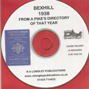 Bexhill Directory [Pike's] 1938 CD