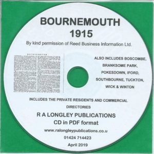 Bournemouth Directory [Kelly's] 1915 CD