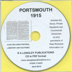 Portsmouth Directory [Kelly's] 1915 CD