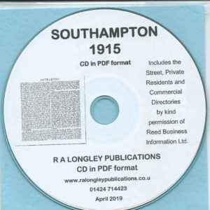 Southampton Directory [Kelly's] 1915 CD
