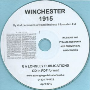Winchester Directory [Kelly's] 1915 CD